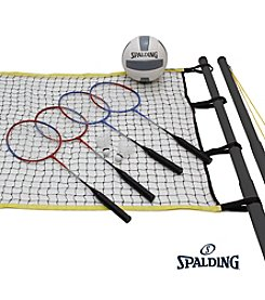 Triumph Sports USA™ Spalding® Badminton and Volleyball Set