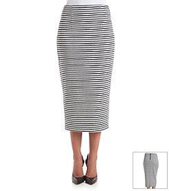 XOXO® Stripe Midi Skirt
