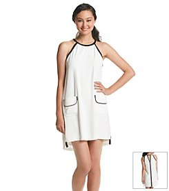 XOXO® Contrast Halter Dress