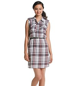 XOXO® Plaid Shirt Dress With Belt