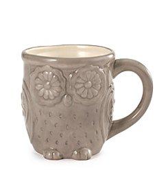 LivingQuarters Grey Owl Mug