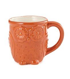 LivingQuarters Orange Owl Mug