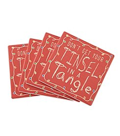 Thirstystone® Tinsel In A Tangle Coasters