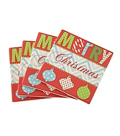 Thirstystone® Merry Christmas Coasters