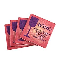 Thirstystone® Wine To Women Coasters