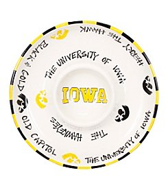 NCAA® University of Iowa Chip and Dip Platter