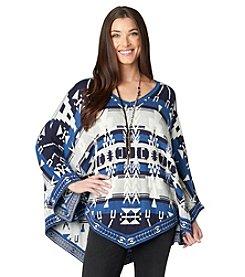Democracy Jacquard Sweater Poncho