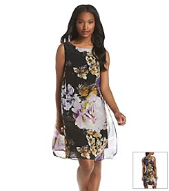 Ronni Nicole® Floral Chiffon Flyaway Shift Dress