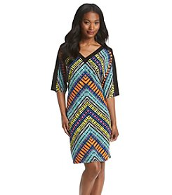 London Times® Patterned Shift Dress