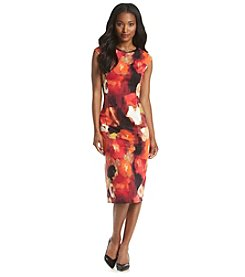 London Times® Floral Sheath Dress