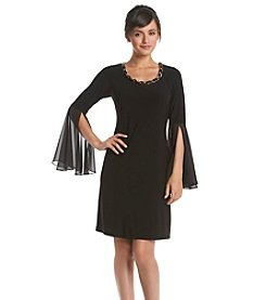 Ronni Nicole® Flounce Chiffon Shift Dress