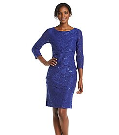 Ronni Nicole® Tiered Sequin Lace Dress