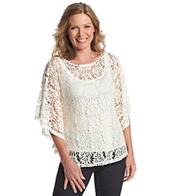 Ruby Rd.® Au Natural Floral Lace Layered Look Top