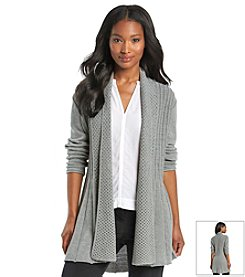 Notations® Solid Fishtail Cardigan