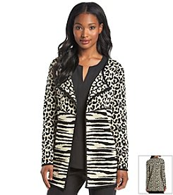 Notations® Animal Print Cardigan