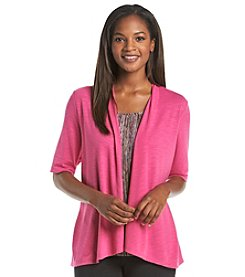 Notations® Printed Layered Look Top