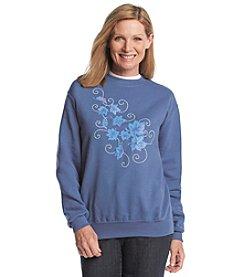 Morning Sun® Frosty Leaves Fleece Sweatshirt