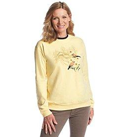 Morning Sun® Waxwing Scene Fleece Sweatshirt