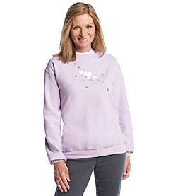 Morning Sun® Floating Hearts And Leaves Sweatshirt
