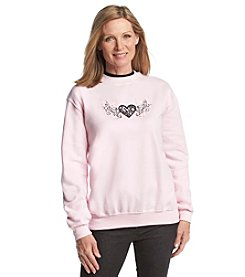 Morning Sun® Jeweled Lace Heart Sweatshirt
