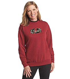 Morning Sun® Velvet Mistletoe Cardinal Sweatshirt