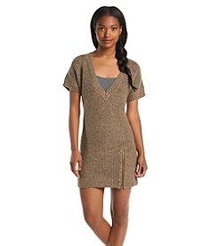 Ruff Hewn Short Sleeve Sweater Dress