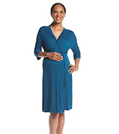 Three Seasons Maternity™ Dolman Sleeve Surplice Knit Dress