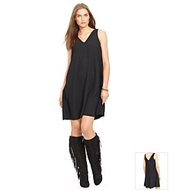 Lauren Ralph Lauren Sleeveless V-Neck Dress