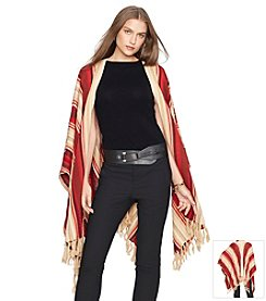 Lauren Ralph Lauren® Linen-Cotton Striped Poncho