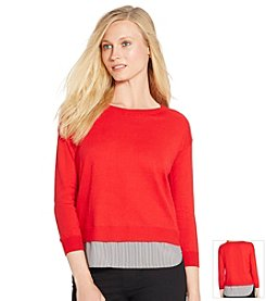 Lauren Ralph Lauren® Layered Crew Neck Sweater