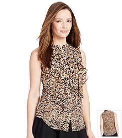Lauren Ralph Lauren® Ruffled Sleeveless Top