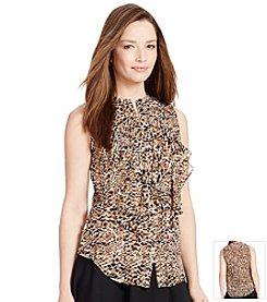 Lauren Ralph Lauren® Ruffled Sleeveless Top
