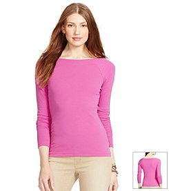 Lauren Ralph Lauren® Cotton Ballet Neck Shirt