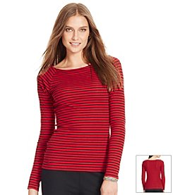Lauren Ralph Lauren® Striped Ballet Neck Shirt