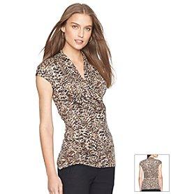 Lauren Ralph Lauren® Printed Surplice Shirt