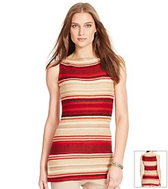 Lauren Ralph Lauren® Linen-Cotton Striped Sweater