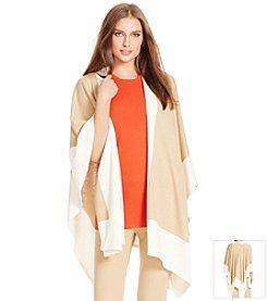 Lauren Ralph Lauren® Color-Blocked Knit Poncho