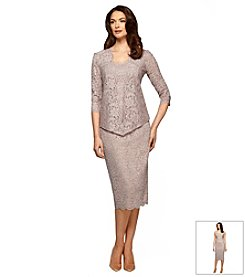Alex Evenings® Midi Lace Jacket Dress