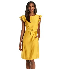 Anne Klein® Silk Flutter Sleeve Dress