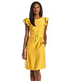 Anne Klein® Silk Flutter Sleeve Dress