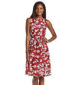Anne Klein® Floral Print Fit And Flare Dress