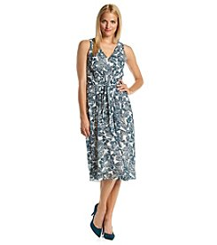 Anne Klein® Butterfly Chiffon Dress
