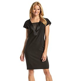 Anne Klein® Crepe Satin Shift Dress