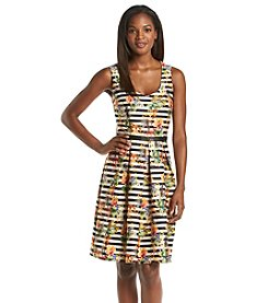 Chetta B. Striped Scuba Dress