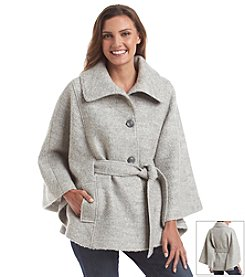 Jessica Simpson Belted Boucle Cape Jacket