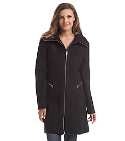Jessica Simpson Funnel Neck Boucle Walker Coat