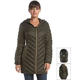 MICHAEL Michael Kors® Three-Quarter Packable Chevron Jacket