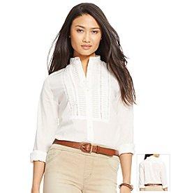 Lauren Jeans Co.® Lace-Trimmed Voile Tunic