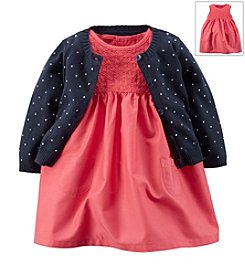 Carter's® Baby Girls' 2-Piece Dress & Cardigan Set