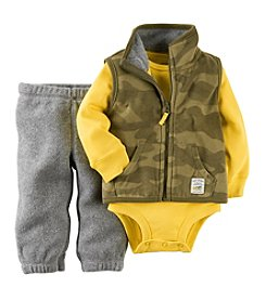 Carter's® Baby Boys' 3-24M Three-Piece Vest Outfit Set